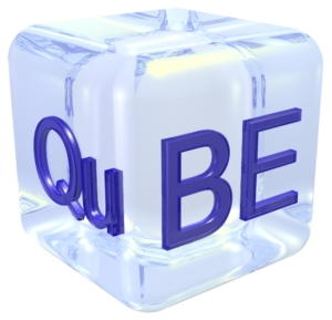 QuBE's Logo. Thanks to our friend Paola Puddu who realized this Logo making real our idea.